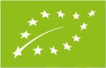 Nuevo logotipo de Agricultura EcolÛgica: 12 estrellas blancas de la UniÛn Europea que forman la silueta de una hoja sobre un fondo verde